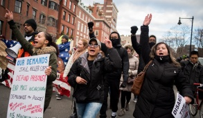 1/19/15 – Boston, MA – Protesters participate in the 4 Mile March in Boston, Mass. on January 19th, 2015. (Nicholas Pfosi / The Tufts Daily)
