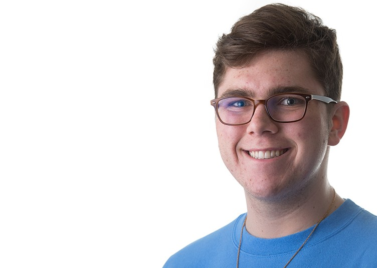 2/7/16 – Medford/Somerville, MA – CAPTION poses for a headshot on Sunday, Feb. 7, 2016. (Evan Sayles / The Tufts Daily)