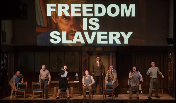 "The performance of ""1984"" by the American Repertory Theatre. (Courtesy A.R.T)"