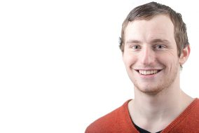 2/16/16 – Medford/Somerville, MA – Columnist Luke Sherman poses for a headshot on Tuesday, Feb. 16, 2016. (Evan Sayles / The Tufts Daily)
