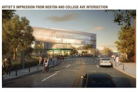 Artist's impression from Boston and College Ave intersection, dated June 2015. (Courtesy Massachusetts Department of Transportation)