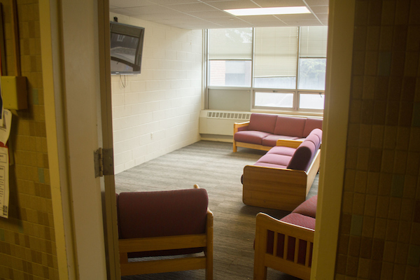 First-year dorm building Houston Hall, pictured on Sept. 29. (Max Lalanne / The Tufts Daily)