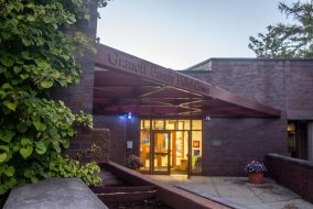The path to the creation of the Granoff Family Hillel Center, pictured here on Oct. 4, spanned decades. (Max Lalanne / The Tufts Daily)