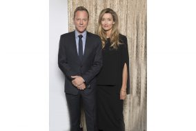 """Kiefer Sutherland, left, plays the President, who is thurst into office when the presidential hierarchy is destroyed in an attack. Natascha McElhone plays the First Lady in ABC's drama, """"Designated Survivor,"""" premiering on Sept. 21. (ABC)"""