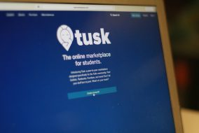 The Tusk Marketplace website landing page received significant traffic as of Sept. 13, a week after it launched. (Max Lalanne / The Tufts Daily)