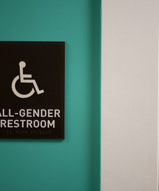 Gender neutral bathrooms in Richardson  House following its summer renovation, pictured during move-in day for the incoming Class of 2019 on Wednesday, Sep. 2, 2015. (Nicholas Pfosi / The Tufts Daily)