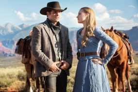 "James Marsden and Evan Rachel Wood star in HBO's ""Westworld."" (Max Lalanne / The Tufts Daily)"
