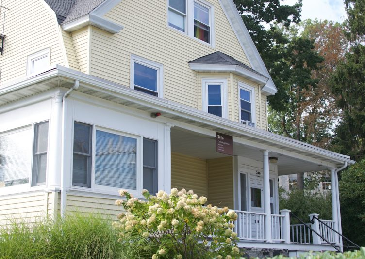 The house at 226 College Ave., which hosts both the LGBT Center and the Latino Center, is pictured on Oct. 3. (Mia Lambert / The Tufts Daily)