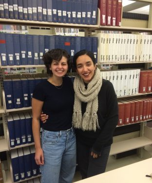 Seniors Julia Doyle and Aishvarya Arora are co-editors of NightBrunch, the newest iteration of the literary journal formerly known as the Tufts Canon. (Courtesy Keanon Nelson via Julia Doyle)