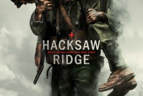 """The poster for Mel Gibson's new film, """"Hacksaw Ridge,"""" starring Andrew Garfield. (Courtesy Lionsgate)"""