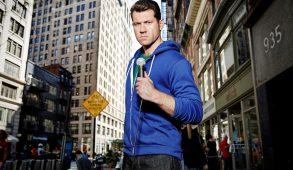"In his show, ""Billy on the Street,"" Billy Eichner runs around the streets of New York asking passers-by trivial questions related to Hollywood. (Courtesy Turner)"