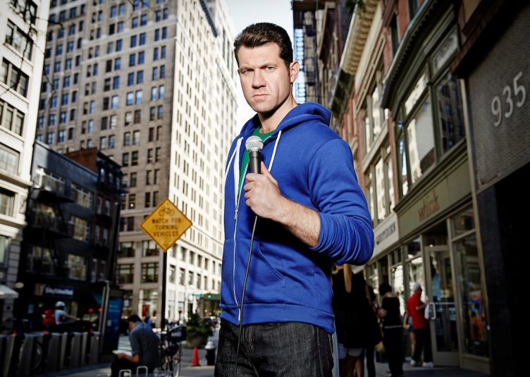 """In his show, """"Billy on the Street,"""" Billy Eichner runs around the streets of New York asking passers-by trivial questions related to Hollywood. (Courtesy Turner)"""