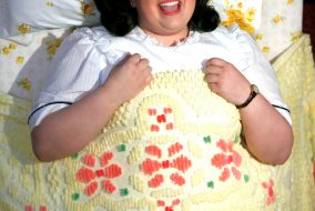 "Maddie Baillio plays Tracy Turnblad in ""Hairspray Live!,"" which aired on Dec. 7. (Justin Lubin for NBC)"