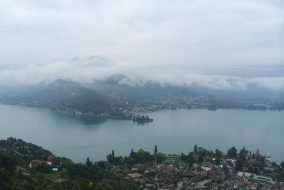 Lake Annecy is pictured behind the town of Talloires, France on Sept. 27, 2015. (Courtesy Kathleen Schmidt)