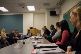 Boston City Councilor Tito Jackson speaks during the Tufts Democrats' 'Immigration in Law: Sanctuary Cities and the TRUST Act' panel in Tisch 316 on Jan. 23. (Max Lalanne / The Tufts Daily)