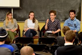 07/02/2017 - Medford, MA - Sophomore Dan Pechi spoke on a panel about Greek life at Tufts hosted by The Union in Braker Hall on Feb. 7. (Rachael Meyer / The Tufts Daily)