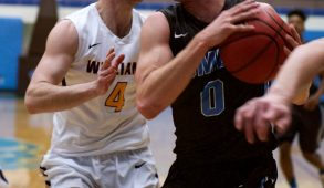 Medford/Somerville, MA - Junior guard Ben Engvall attempts a layup against Williams on Feb. 11. (Angelie Xiong / The Tufts Daily)