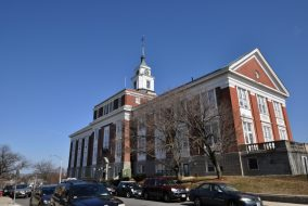 Somerville City Hall is pictured here on March 12, 2012. (Courtesy Magicpiano, Wikimedia Commons)