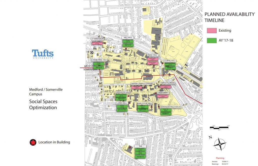 Tufts Medford Campus Map.Nine New Spaces To Be Available For Student Events The Tufts Daily
