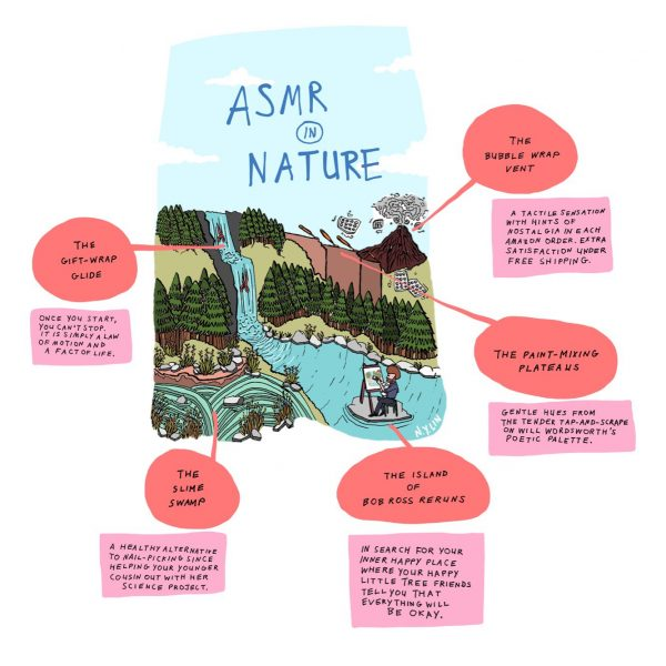 Cartoon: ASMR in nature - The Tufts Daily